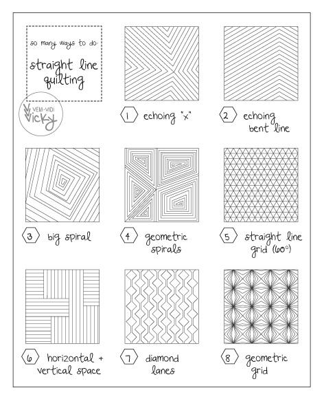 Different Line Designs : Straight line quilting patterns veni vidi vicky