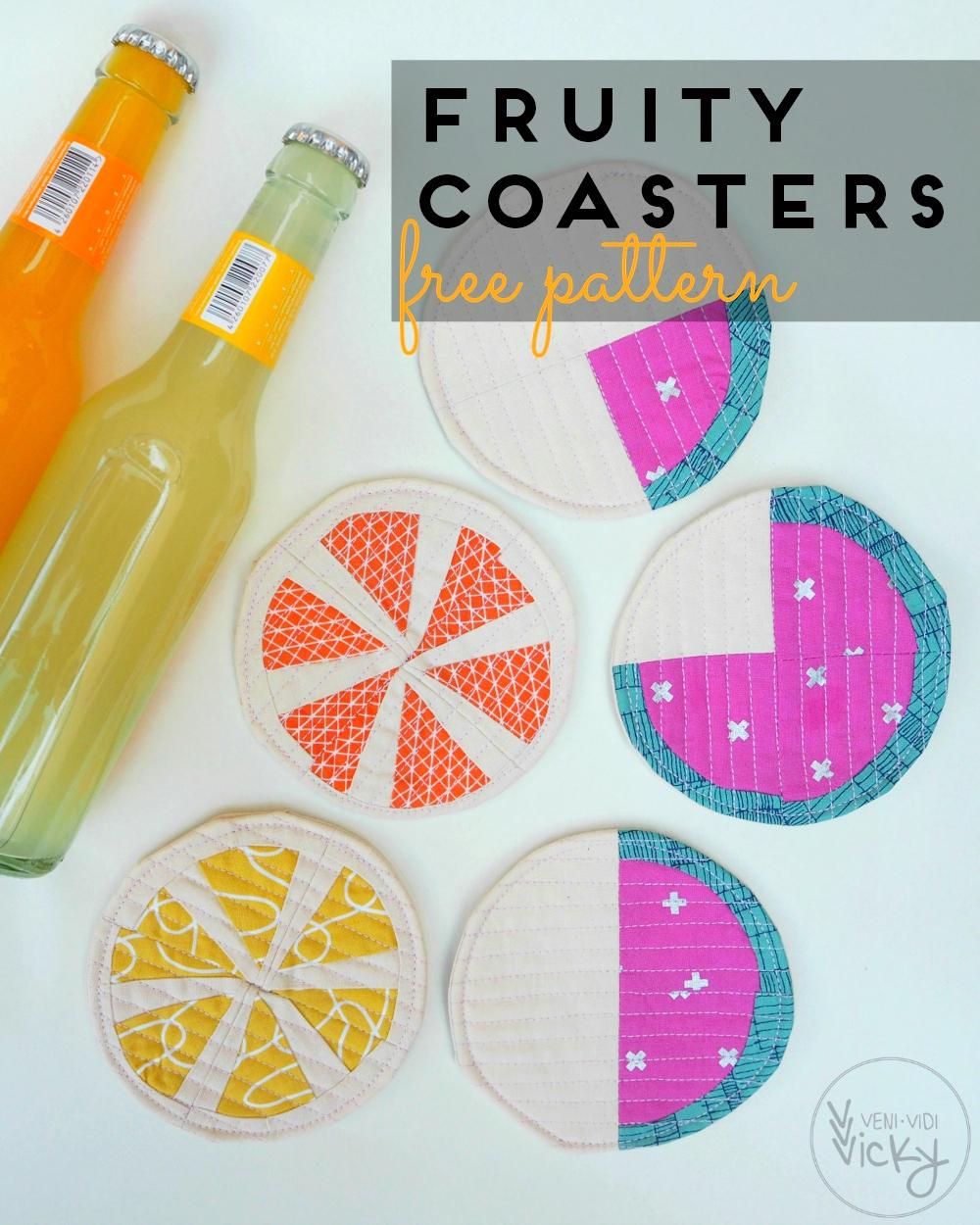 Fruity Coasters [free pattern] | veni vidi vicky