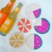 fruity coasters [tutorial] summer blog party