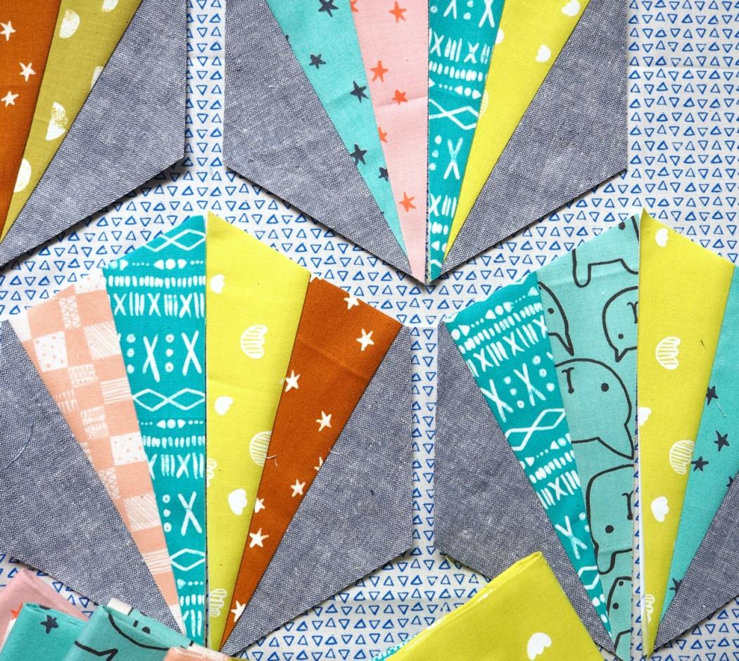 Hexie Tiles in printshop | veni vidi vicky quilts
