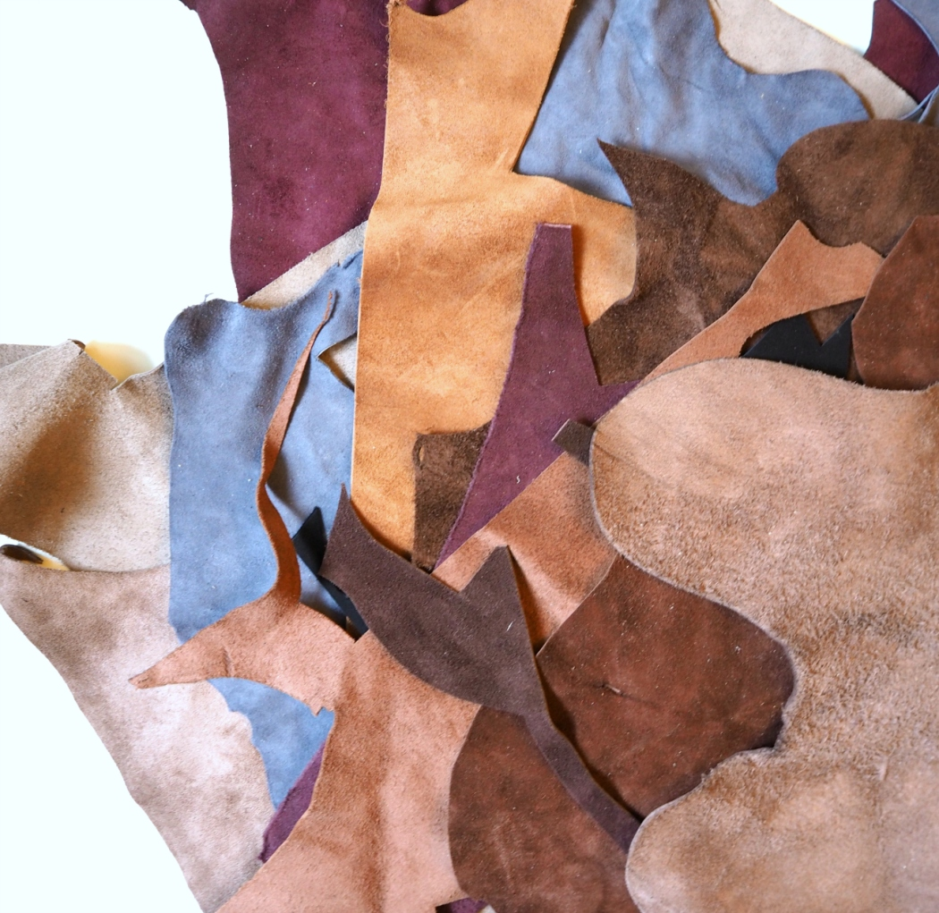 A Bag Full of Leather Scraps | veni vidi vicky Quilts