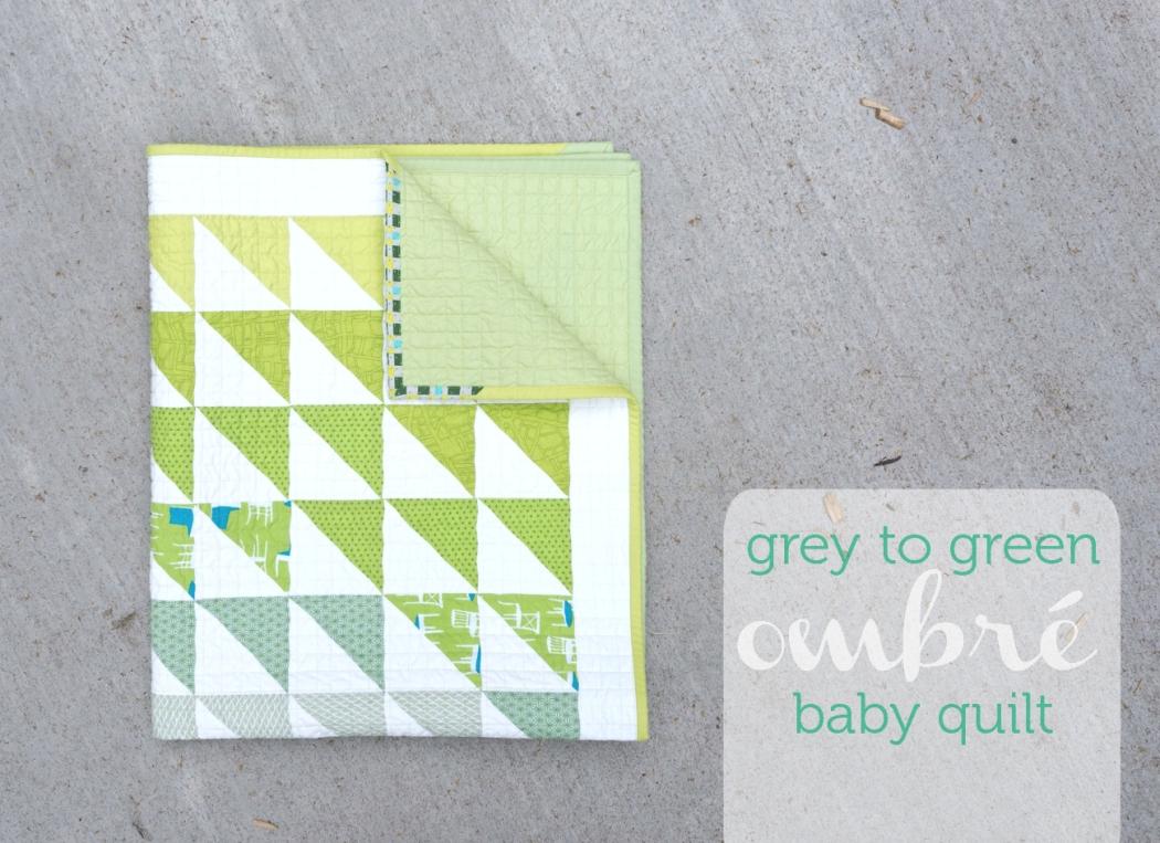 grey/green Ombré Quilt | veni vidi vicky