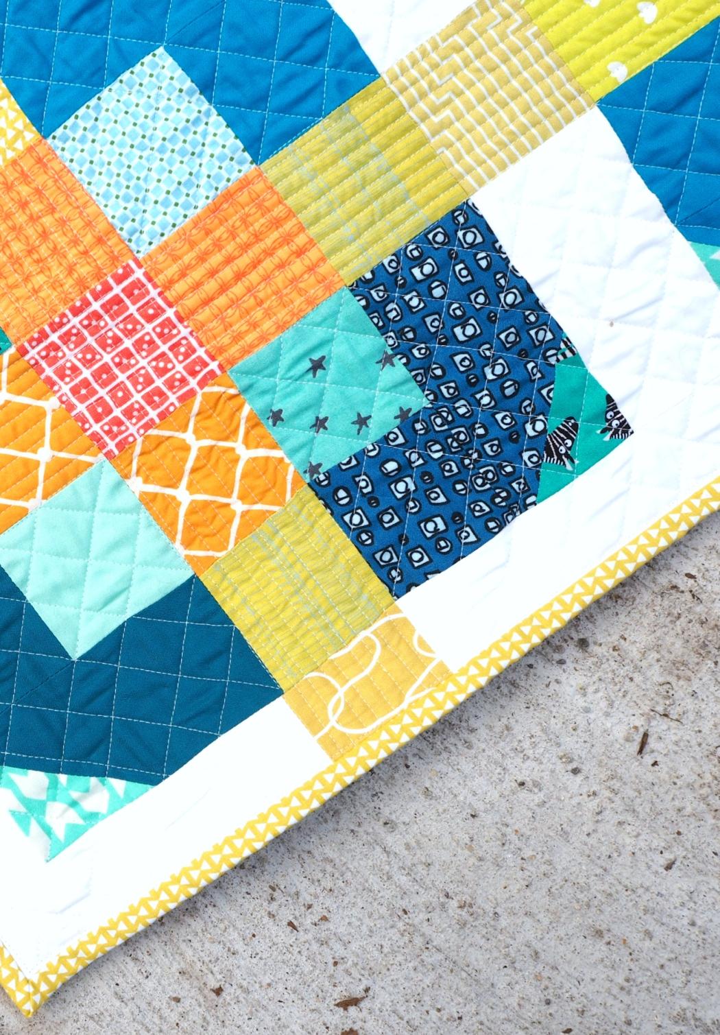 Golden Net baby quilt | veni vidi vicky